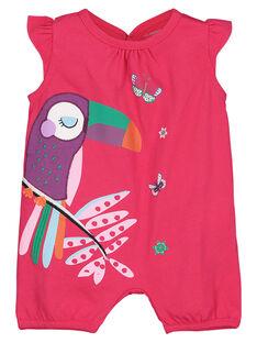 Baby girls' short sleepsuit FEFIGREPER / 19SH13H2GRE304