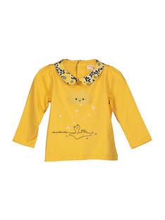 Baby girls' T-shirt with a Peter Pan collar FILIBRA / 19SG0921BRA103
