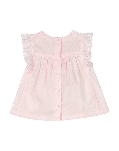 Baby girls' sleeveless smock FIPOCHEM / 19SG09C1CHE307