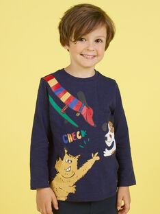 Boy's Navy Blue T-Shirt MOMIXTEE5 / 21W902J4TML717