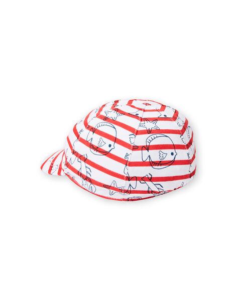Red and ecru cap baby boy LYUVICASQ / 21SI10U1CHA001