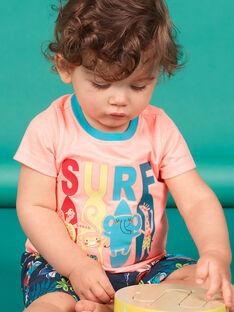 Short sleeve t-shirt peach baby boy LUBONTI3 / 21SG10W2TMCD311