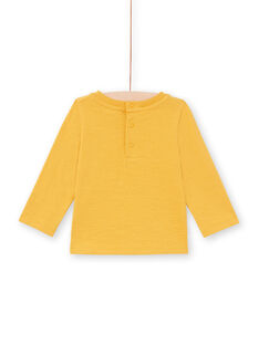 Baby boy's mustard fox and forest long sleeve T-shirt MUSAUTEE2 / 21WG10P2TMLB106