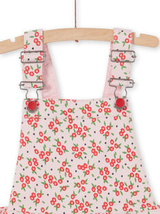 Dress dungarees with floral print LAROUROB2 / 21S901K2ROBD326