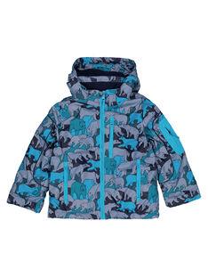 Grey Puffy Jacket GOSKIPAR / 19W902W1ANO940