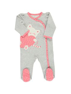 Baby girls' cotton sleepsuit CEFIGREGRI / 18SH1351GRE943