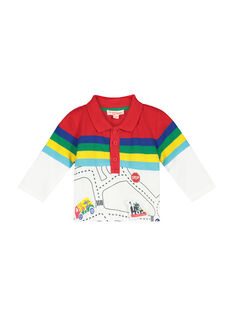 Baby boy's long-sleeved polo shirt FUCOPOL / 19SG1081POL099