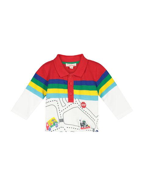 Baby boy's long-sleeved polo shirt FUCOPOL / 19SG1081POL099