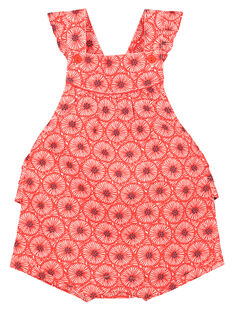 Baby girls' printed romper FITOBAR / 19SG09L1BAR330