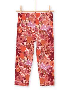 Red leggings for children and girls LYATERLEG / 21SI01V1CAL001