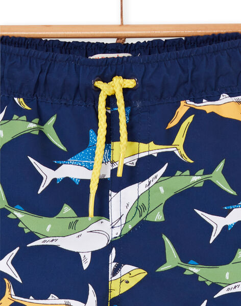 Baby boy navy blue swim shorts LYUMER1EX1 / 21SI10DFMAI070
