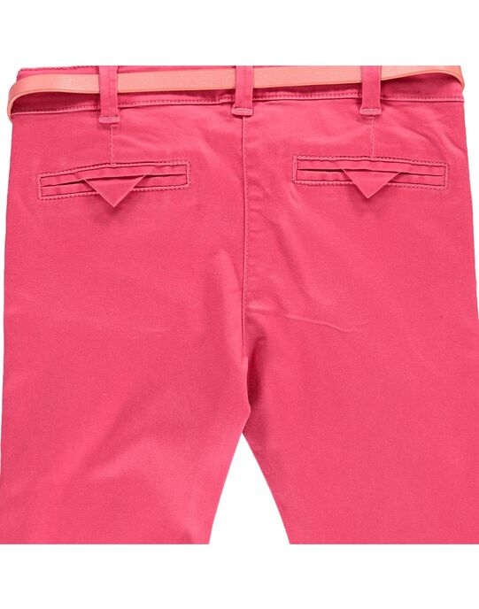 Girls' twill trousers CAHOPANT / 18S901E1PANF503