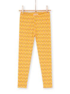 Yellow leggings child girl LYAPOELEG / 21SI01Y1CAL107