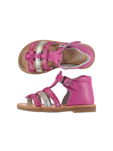Baby girls' smart leather sandals FBFSANDBEL1 / 19SK37D2D0E304