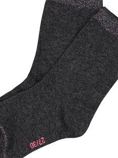 Dark grey Socks GYAESCHO1 / 19WI01U3SOQ944