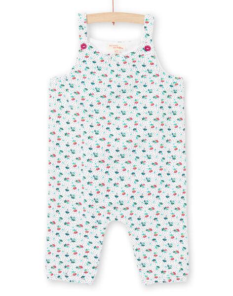 Baby boy's blue and ecru floral print overalls MITUCOMB / 21WG09K1CBL001