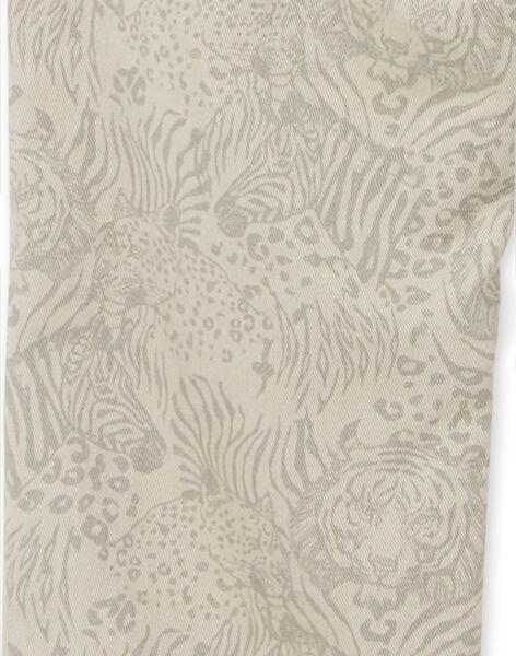Grey cotton pants with wild animal print LOBLEPAN1 / 21S902J1PAN811