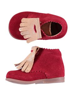 Red Booties GBFBOTIPATR / 19WK37I6D0F050