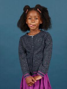 Baby girl's night blue sequined long sleeve cardigan MAPACAR / 21W901H1CARC205
