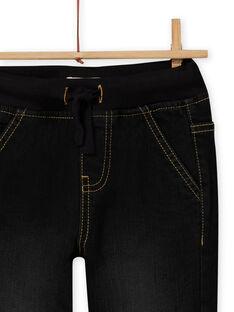 Boy's black multi-pocket denim jeans MOSAUJEAN / 21W902P1JEAK003