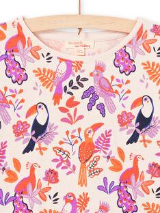 Girl's long sleeve t-shirt with bird design MAPATEE / 21W901H1TMLD319
