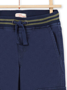 Boy's dark blue pants MOJOPAMAT1 / 21W90228PAN705