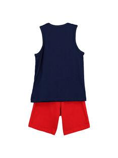 Boys' vest and shorts set FOPLAENS1 / 19S902P1ENS070