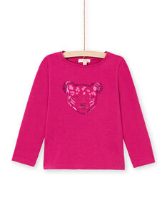 Dark pink t-shirt child girl MAJOYTEE7 / 21W90123TMLD312
