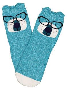 Dark Turquoise Socks GYOTUCHO / 19WI02Q1SOQC217