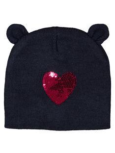 Bonnet avec cœur en sequin réversible. GYAMUBON / 19WI01F1BON070
