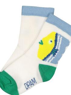 Baby boys' fancy socks FYUCUCHO / 19SI10N1SOQ000