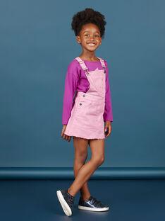 Girl's parma denim dress with polka dots MAPAROB3 / 21W901H3ROBH709