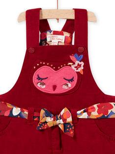 Baby Girl Red Owl Corduroy Ball Dress MIFUNROB2 / 21WG09M3ROB504