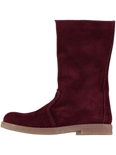 Girls' fur lined leather boots DFBOTTEVIN / 18WK35TBD10503