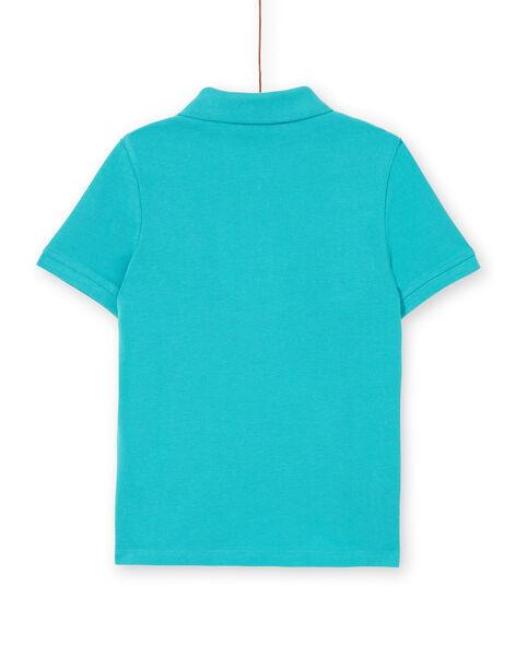 Turquoise polo shirt - Boy's LOJOPOL2 / 21S90242POLC215