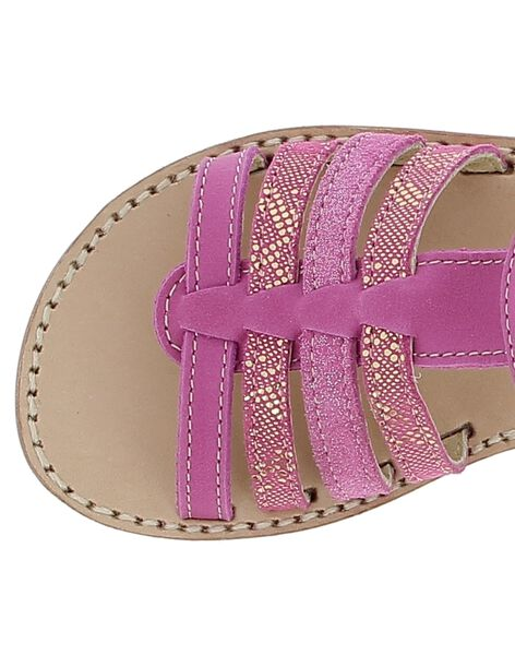Girls' leather sandals CFSANDFUSH / 18SK35W1D0E304