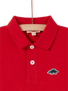 Red Polo Shirt - Child Boy LOJOPOL3 / 21S90245POL050