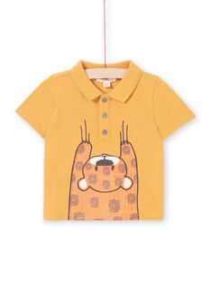 Baby boy mustard polo shirt LUTERPOL / 21SG10V1POLB106