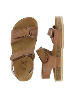 Boys' leather sandals CGNUCAMEL / 18SK36W6D0E804