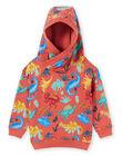 Baby boy orange hoodie MOPASWE / 21W902H1SWEE415