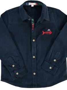 Boys' velour shirt DONAUCHEM / 18W902G1CHM705