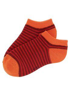 Boys' striped ankle socks CYOJOCHO10A / 18SI02S7SOQF513