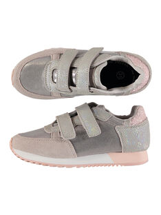 Girls' smart trainers in two fabrics FFBASGI / 19SK3531D3F954