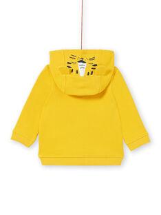 Baby boy yellow cotton hoody LUJOGIL1 / 21SG1032GIL106