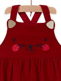 Baby Girl Red Velvet Cat Dress MIMIXROB2 / 21WG09J3ROB511
