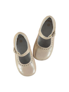 Baby girls' leather Mary-Janes FBFBABPERF2 / 19SK37B1D13030
