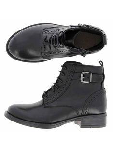 Girls' leather boots DFBOOTISSA / 18WK35T9D0D090