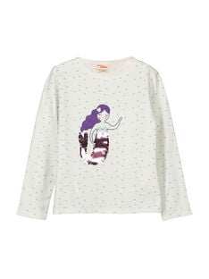 Girls' long-sleeved T-shirt FANETEE1 / 19S901B1TML000