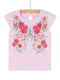 Pink and green T-shirt LAVITI1 / 21S901U2TMCH700