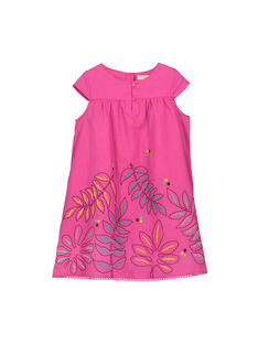 Girls' pink cotton dress FATUROB2 / 19S901F5ROB712